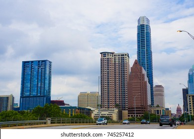 AUSIN, TEXAS: 19 AUG 2017 - Skyline of Austin