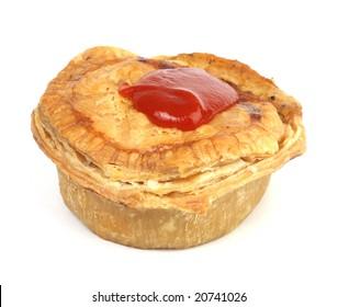 aussie meat pie with sauce
