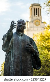 AUSTIN - CIRCA APRIL 2016: The Martin Luther King Jr. statue is a prominent feature on the east mall at the University of Texas at Austin.