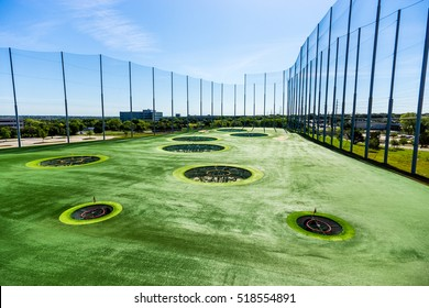 AUSTIN - CIRCA APRIL 2016: Top Golf is a place to practice golf casually.