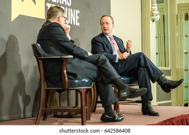 AUSTIN - CIRCA OCTOBER 2015: Paul Begala, political commentator and former Clinton adviser, speaks at a policy discussion event open to the public hosted by The Texas Tribune in Austin, Texas.