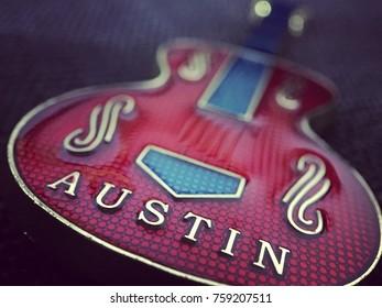 Austin guitar keychain