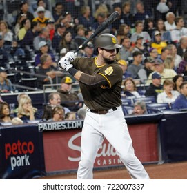 Austin Heges catcher for the San Diego Padres at Petco Park in San Diego California USA September 21,2017.