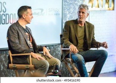 AUSTIN - MARCH 14, 2016: TV personality, writer, and entrepreneur Anthony Bourdain talks at a SXSW event in Austin, Texas.
