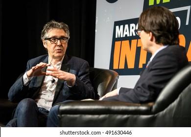 AUSTIN - MARCH 15, 2016: Radio host Ira Glass speaks at a SXSW event in Austin, Texas.