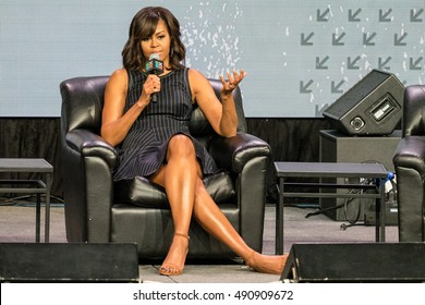 AUSTIN - MARCH 16, 2016: First Lady Michelle Obama speaks at the SXSW event Let Girls Learn in Austin, Texas.