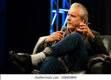 AUSTIN - MARCH 16, 2016: Musician Neil Giraldo speaks at a SXSW event with his wife and fellow musician, Pat Benatar.