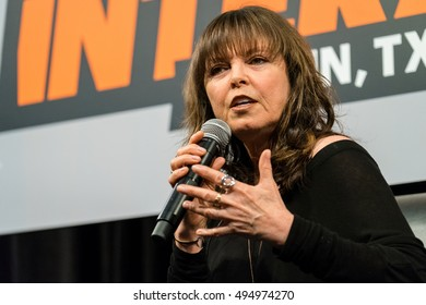 AUSTIN - MARCH 16, 2016: Singer and song writer Pat Benatar speaks at a SXSW event in Austin, Texas.