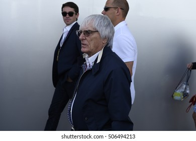AUSTIN - OCTOBER 23:  Formula One primary authority, Bernie Ecclestone, before the race at The Circuit of the Americas on October 23, 2016 in Austin, Texas.