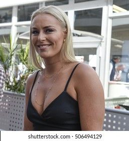 AUSTIN - OCTOBER 23:  Lindsey Vonn is a guest of Red Bull Racing at The Circuit of the Americas on October 23, 2016 in Austin, Texas.