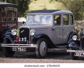austin Ten 1940's vintage classic old car,in Derbyshire,england. taken 05/10/2014