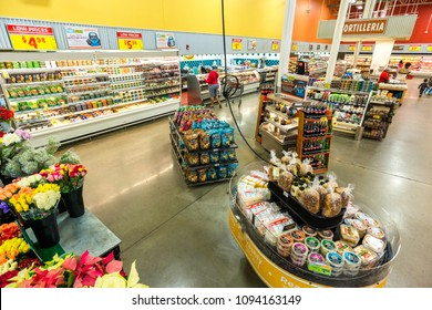 AUSTIN, TEXAS - CIRCA MARCH 2017: An HEB deli department sells deli meats, cheeses, sandwiches, and chips in a grocery store in Austin, Texas.
