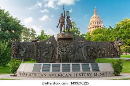 AUSTIN, TEXAS - JUNE 16, 2019 - The Texas African American History Memorial is an outdoor monument commemorating the impact of African Americans installed on the  State Capitol grounds