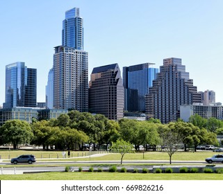 Austin, Texas, March 2017: Austin, Texas, USA downtown skyline on the Colorado River.Austin is the capital of the U.S. state of Texas. It is the 11th-most populated city in the U.S.