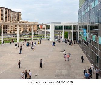 Austin, Texas, May 2017: A view of the Long Center City Terrace before the symphony