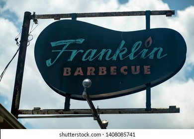Austin, Texas - May 26 2019: the iconic sign for Franklin Barbecue