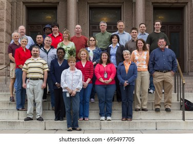 AUSTIN, TEXAS - MAY 27 2010: on the steps of the Texas State Capitol for a group shot