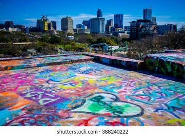 Austin Texas Skyline Graffiti wall