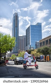 """Austin, Texas / United States of America - March 17, 2019: It's even more beautiful in person - More than one way to get around - The makings of a """"fit"""" city"""