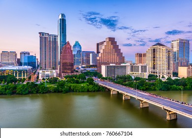 Austin, Texas, USA downtown skyline.