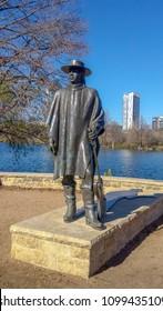 Austin, Texas, USA, January 1st 2014 Stevie Ray Vaughan Statue