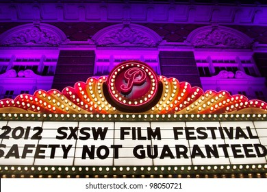 AUSTIN, TX - MAR 10: SXSWi 2012. Marquee for SXSW Interactive Conference on March 10, 2012 in Austin, Texas.