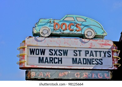 Austin, TX - March 12: SXSW Interactive Conference in Austin.   South Congress Ave. is full of interesting shops and hotel.