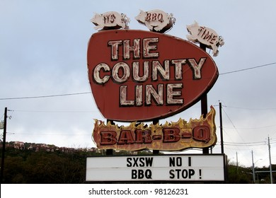 Austin, TX - March 12: SXSW Interactive Conference in Austin. BBQ is very popular during the conference.