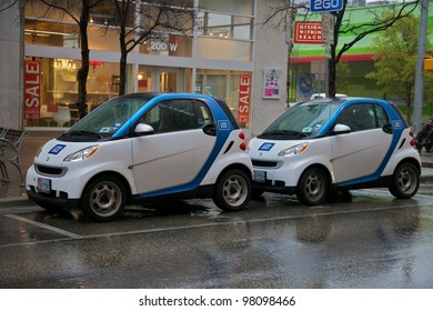 Austin, TX - March 9: SXSW Interactive Conference in Austin. Car2Go has special parking.