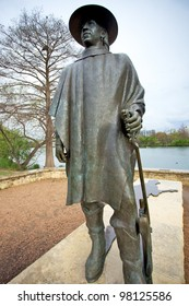 Austin, TX - March 9: SXSW Interactive Conference in Austin. Stevie Ray Vaughan status locates in Zilker Park