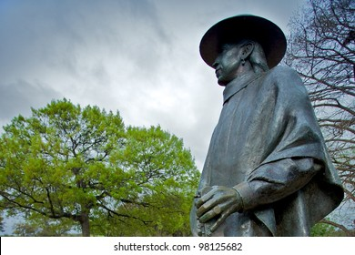Austin, TX - March 9: SXSW Interactive Conference in Austin. Stevie Ray Vaughan status located in Zilker Park