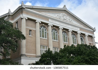 AUSTIN, TX - OCT 13: First Methodist Church in Austin, TX, as seen on Oct 13, 2018.