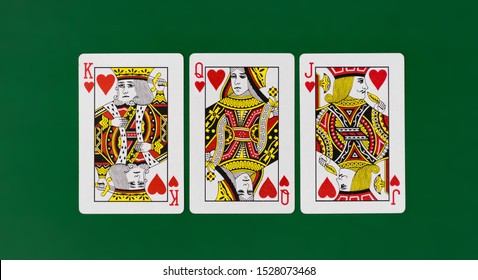Austin, TX / USA - 10 01 2019 Playing Cards full deck green with plain background mockup casino poker