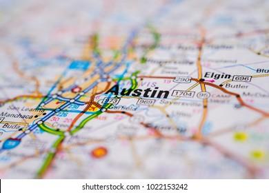 Austin, USA map background