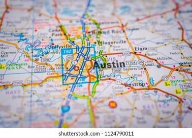 Austin, USA map background