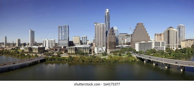 AUSTIN-OCTOBER 22: A View of the Skyline Austin at Sunny Day on October 22, 2013 Austin, Texas. Austin is the capital of the U.S. state of Texas and the 13th most populous city in the USA.