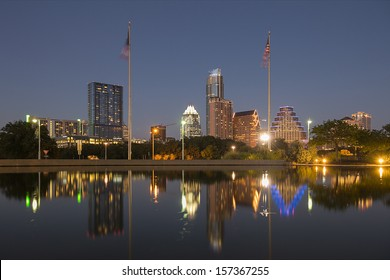 AUSTIN-SEPTEMBER 30: A View of the Skyline Austin at Sunset on September 27, 2013 Austin, Texas. Austin is the capital of the U.S. state of Texas and the 13th most populous city in the USA.