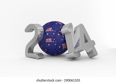 Australia 2014 on white background