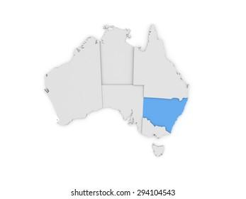 Australia 3D map