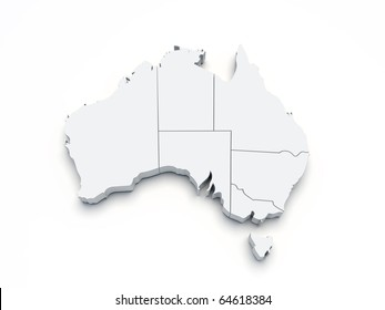 Melbourne australia world map images stock photos vectors australia 3d map on white isolated gumiabroncs Image collections
