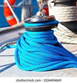 in australia abstract texture of the plastic blanket  and rope of a catamaran