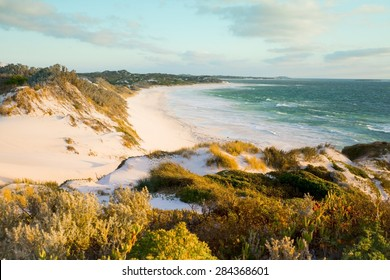 Australia Beach Sand Dunes View Background Ocean