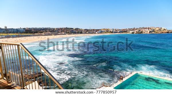 Australia Bondie Beach Resort Pool Near Stock Photo Edit