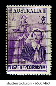 AUSTRALIA - CIRCA 1953: stamp printed by Australia, devoted to the traditions of the service, circa 1953