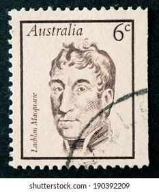 AUSTRALIA - CIRCA 1970:A Cancelled postage stamp from Australia illustrating Portraits of Famous Australians, issued in 1970.