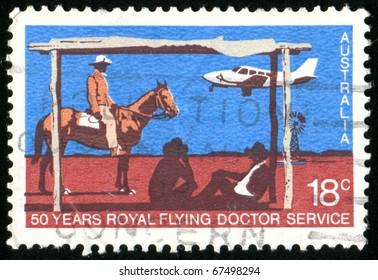 AUSTRALIA - CIRCA 1978: stamp printed by Australia, shows Royal Flying Doctor Service, circa 1978