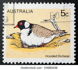 AUSTRALIA - CIRCA 1978:A Cancelled postage stamp from Australia illustrating Australian Birds, issued in 1978.