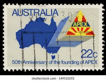 AUSTRALIA - CIRCA 1981: A stamp printed in Australia shows 50th Anniversary of the founding of APEX, circa 1981