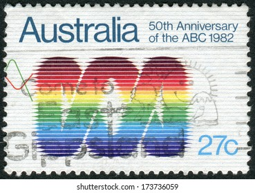 AUSTRALIA - CIRCA 1982: Postage stamp printed in Australia, dedicated to the 50th anniversary of Australian Broadcasting Commission, shows Emblem, circa 1982