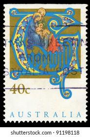 AUSTRALIA - CIRCA 1990: A stamp printed in Australia shows Holy Family, circa 1990